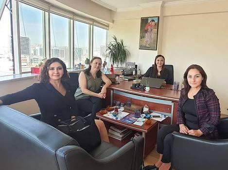 Girişimci İş Kadınları Destekleme Derneği Başkanı Sevgili Gamze Aşnuk ve Filiz Oğuz Bizi Ziyaret Etti