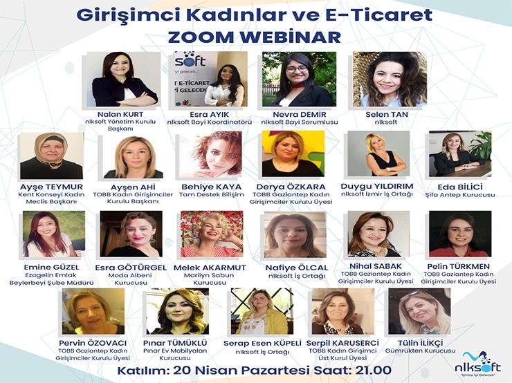 'Girişimci Kadınlar ve E-Ticaret' Başlığı ile Webinar Düzenlendi