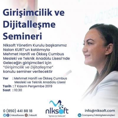 """""""Girişimcilik ve Dijitalleşme"""" Konulu Seminer"""