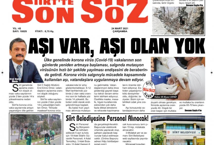 Nlksoft olarak Siirt Son Söz Gazetesinde yer aldık