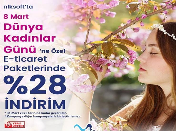 8 Mart Dünya Kadınlar Gününe Özel İndirim