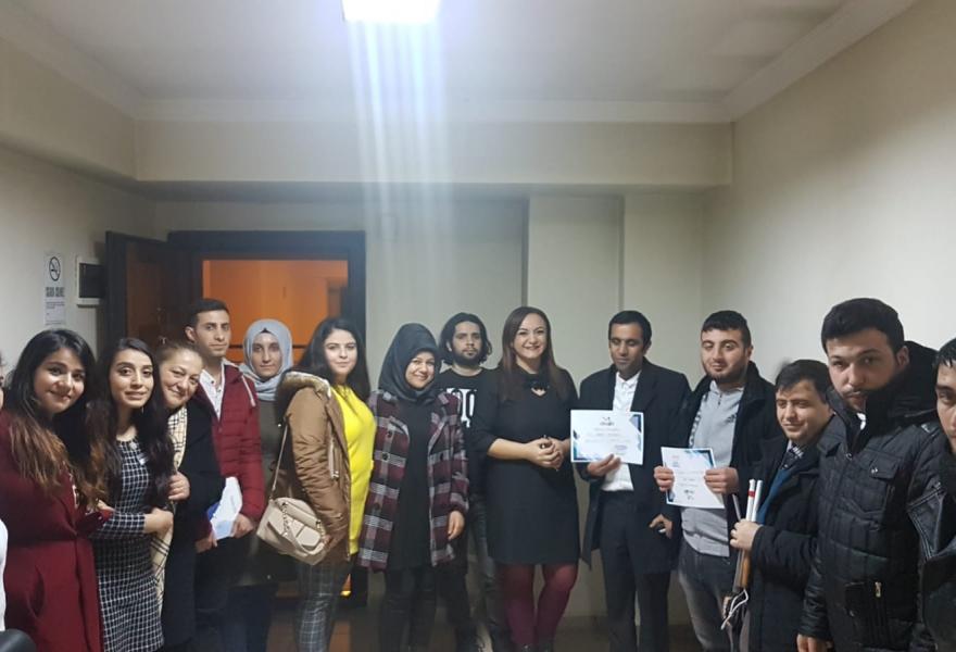 7. E-Ticaret Eğitimimizi Gaziantep Körleri Kalkındırma ve Eğitim Derneği ile  Düzenlendik