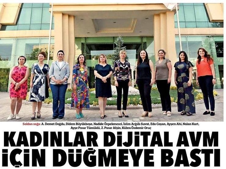 Kadınlar Dijital AVM Kuracaklar - Hürriyet Gazetesi